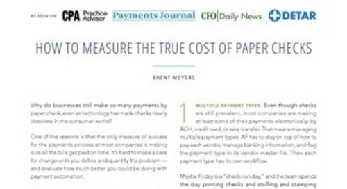 How to Measure the True Cost of Paper Checks
