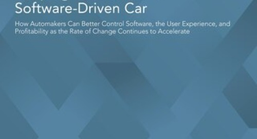 Keeping Pace with the Software-Driven Car