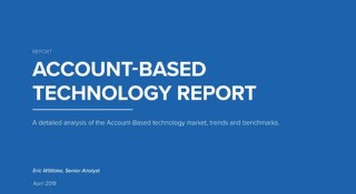 2018 TOPO Account-Based Technology Report