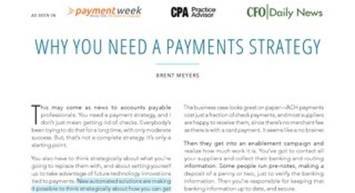 Why You Need a Payments Strategy