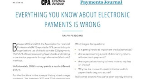 Everything You Know About Electronic Payments