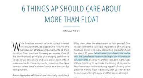 6 Things AP Should Care About More than Float