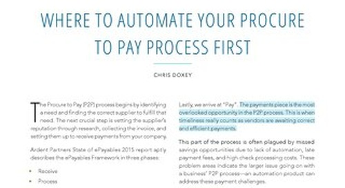Where to Automate Your P2P Process First