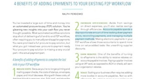 4 Benefits of Adding Epayments to Your Workflow