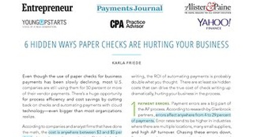 6 Hidden Ways Paper Checks Hurt Your Business