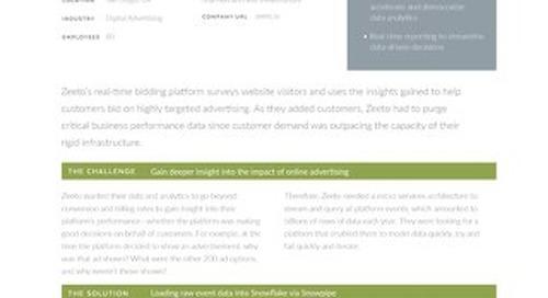Snowflake & Zeeto: Optimizing Digital Advertising Via Analytics