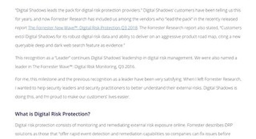 Digital Risk Protection: Avoid Blind Spots with a More Complete Risk Picture