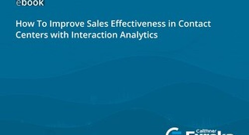 How To Improve Sales Effectiveness in Contact Centers with Interaction Analytics