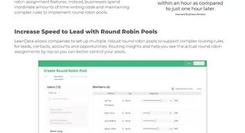 Round Robin Datasheet