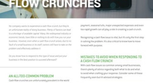 How Businesses Prepare for Cash Flow Crunches