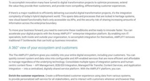 AMPLIFY™ Hybrid Integration Platform