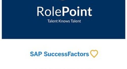 RolePoint + SuccessFactors Integration Overview v3.0