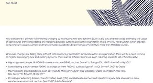 CONNX data movement & migration