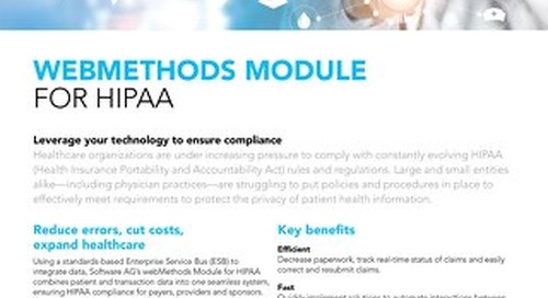 Facts about webMethods Module for HIPAA