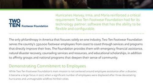 Disaster Relief Customer Spotlight: Two Ten Footwear Foundation