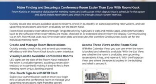 Room Kiosk Interactive Digital Meeting Room Display