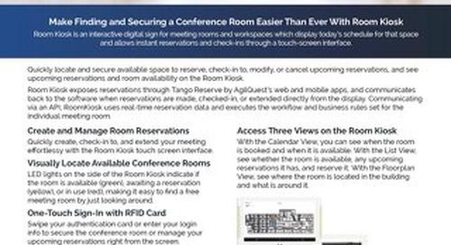 Room Kiosk Interactive Digital Meeting Room Display