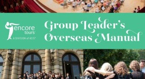 Encore Group Leader Overseas Manual