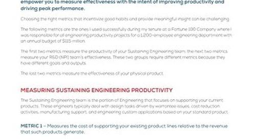 6 Metrics That Will Help Improve Engineering Productivity