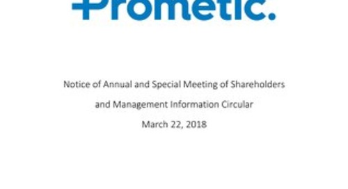 Notice of Annual and Special Meeting of Shareholders and Management Information Circular March 22, 2018