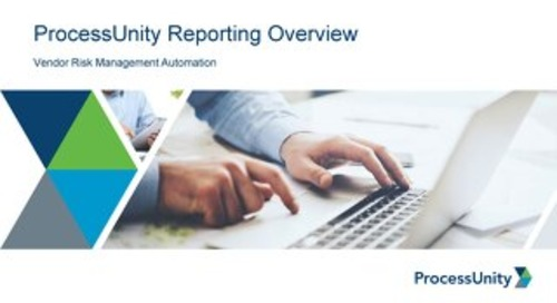 ProcessUnity VRM Reporting