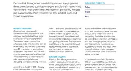Elemica See: Risk Management