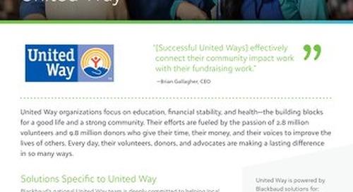 United Way + Blackbaud Partnership