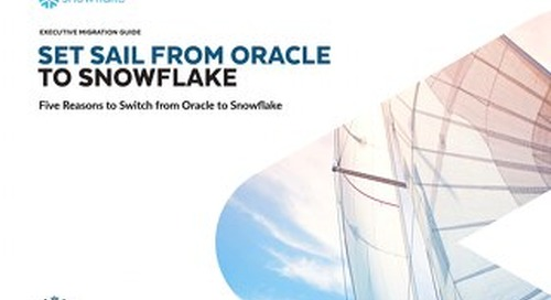 Set Sail from Oracle to Snowflake