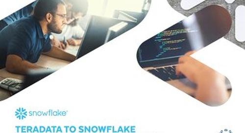 Teradata to Snowflake Migration Reference Manual