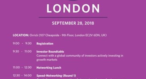 2018 EIN London - Investor Agenda