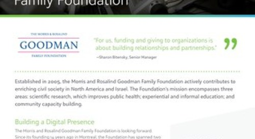 Customer Spotlight: Morris and Rosalind Goodman Family Foundation