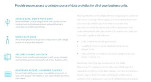 Snowflake Data Sharing: Eliminate Your Data Silos, Data Marts and Data Movement