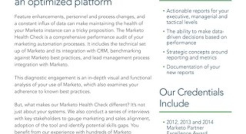 Marketo Health Check