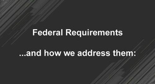 How MongoDB addresses Federal requirements