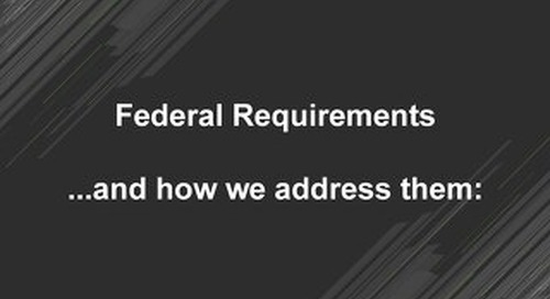 How MongoDB addresses Federal requirements
