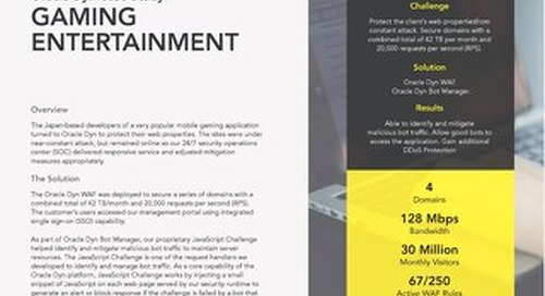 Case Study: Gaming Entertainment