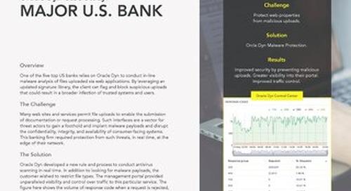 Case Study: A Major US Bank
