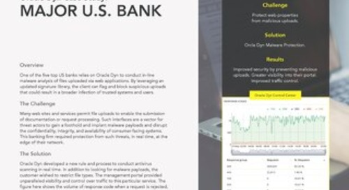 Case Study: A Major US Bank