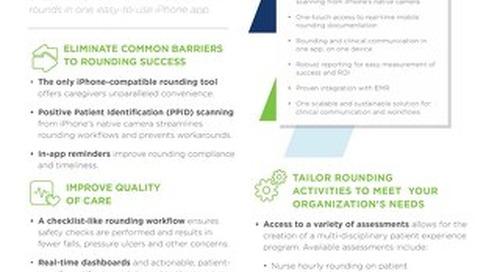 PatientTouch Rounding Data Sheet