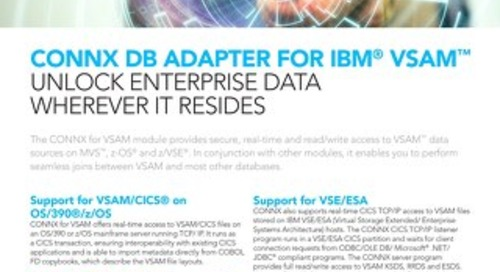 CONNX DB Adapter for IBM® VSAM™
