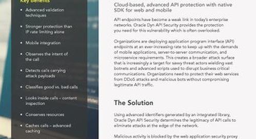 API Security Executive Summary