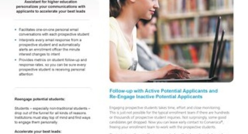 Boost student enrollment with the Conversica AI Assistant