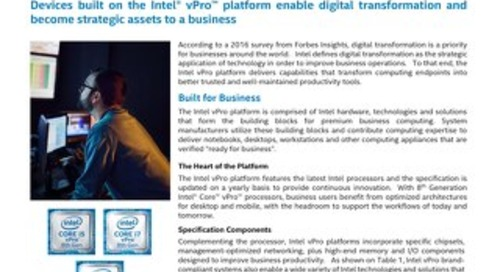 The Intel vPro Platform: A Foundation for Digital Transformation