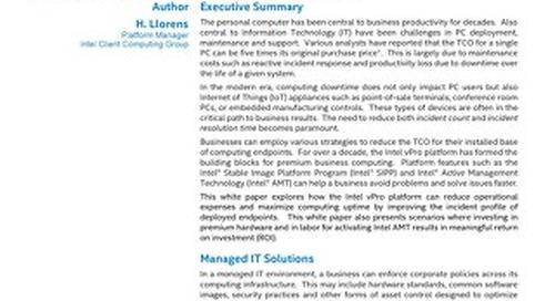 The Economic Case for the Intel vPro Platform