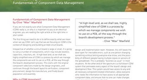Fundamentals of Component Data Management