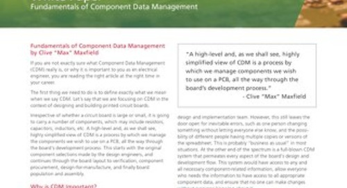 Fundamentals of Component Data Management