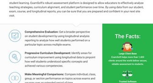ExamSoft for Longitudinal Analysis