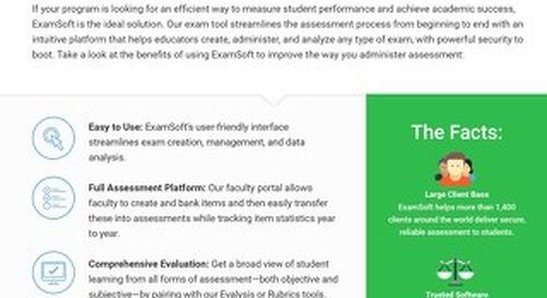 ExamSoft for Program Efficiency