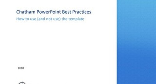 Chatham PowerPoint Best Practices