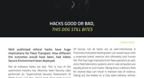 Solution Brief: Hacks Good or Bad, This Dog Still Bites